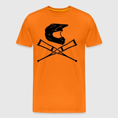 Enduro helmet with crutches - Men's Premium T-Shirt