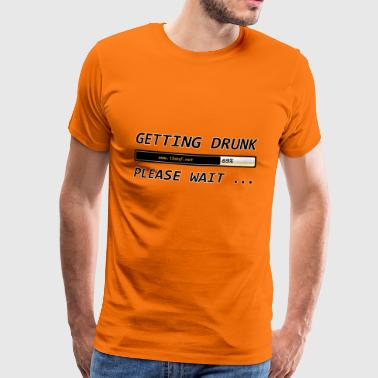 Getting Drunk - Mannen Premium T-shirt
