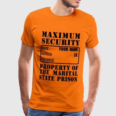 Prisoner, Marriage State Prison - Men's Premium T-Shirt