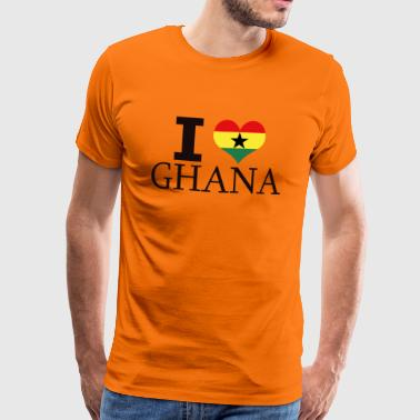 I LOVE GHANA - Men's Premium T-Shirt
