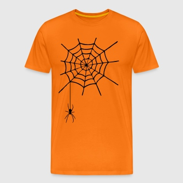 Cobweb with spider - Men's Premium T-Shirt