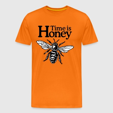 Time Is Honey Beekeeper Quote Design (two-color) - Mannen Premium T-shirt