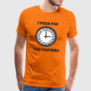 I can not I have football - Men's Premium T-Shirt