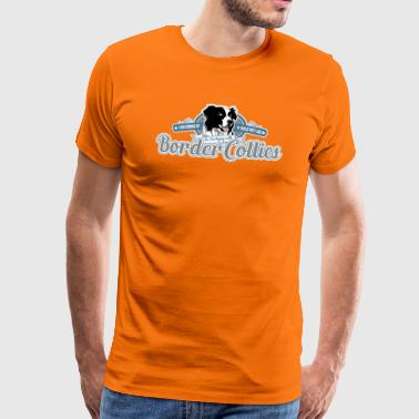 Trying with Border Collies - Camiseta premium hombre