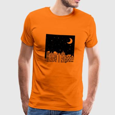 Skyline Sky Night - Mannen Premium T-shirt
