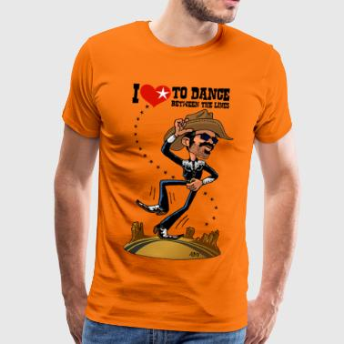 I love to dance between the lines - Men's Premium T-Shirt