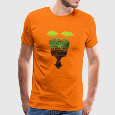 Cadeau Elephant Savannah Afrique Herd Zoo Brush - T-shirt Premium Homme
