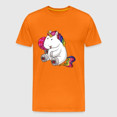 Lolli unicorn comic - Men's Premium T-Shirt