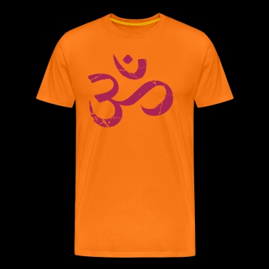 Om symbol grunge look - Men's Premium T-Shirt