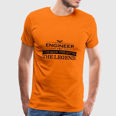 Mann mythos legende geschenk ENGINEER - Mannen Premium T-shirt