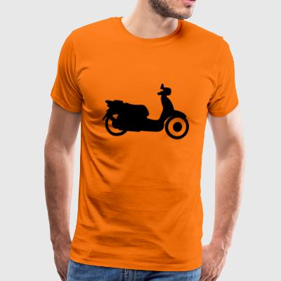 Silhouette of scooter - Men's Premium T-Shirt