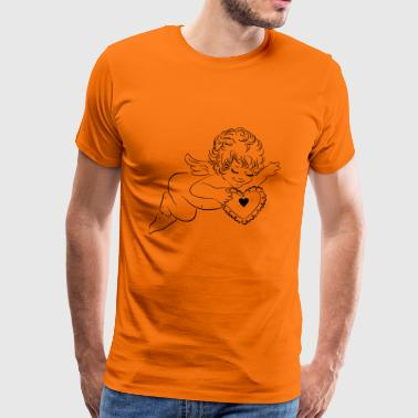 Angel and heart - Men's Premium T-Shirt