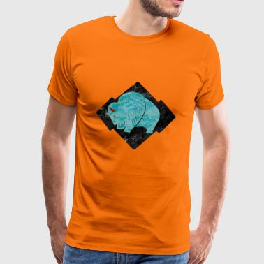 Turquoise Buffalo - Men's Premium T-Shirt