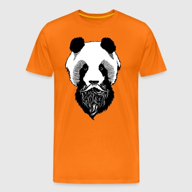 mustache bearded mustache beard beard head 1903 - Men's Premium T-Shirt