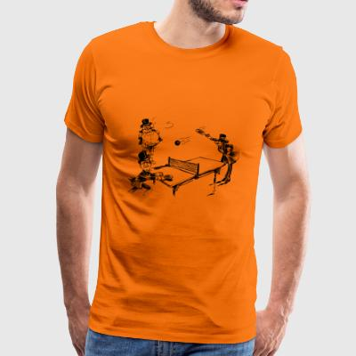 table tennis ping pong tischtennis bat5 - Männer Premium T-Shirt
