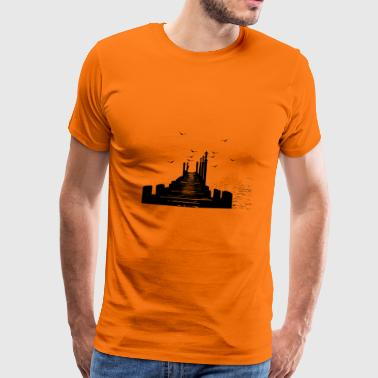 The Pier - Mannen Premium T-shirt