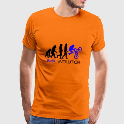 Evolution - BMX Dirt Bike Shirt gave - Herre premium T-shirt