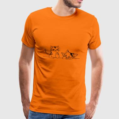 angel cats - Men's Premium T-Shirt