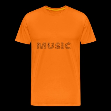 Music text written in notes. - Men's Premium T-Shirt