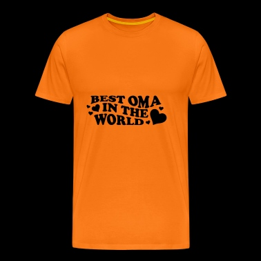 Best Grandma In The World Saying With Heart - Men's Premium T-Shirt