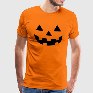 Halloween Pumpkin T-Shirt - 02 - Men's Premium T-Shirt