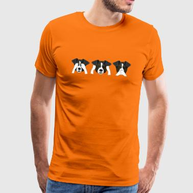 Funny dog ​​heads - Men's Premium T-Shirt