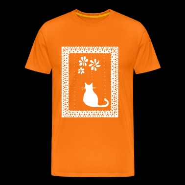Poetic Kitty Cat by BlackenedMoonArts - Herre premium T-shirt