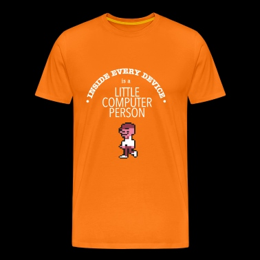 Little Computer Person - Men's Premium T-Shirt