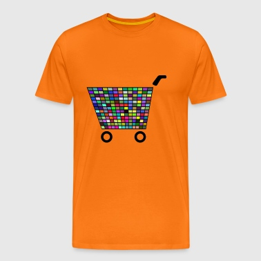 Disco Shopping Cart - Men's Premium T-Shirt