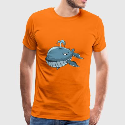 whale walfish fish ocean ocean sea sea - Men's Premium T-Shirt