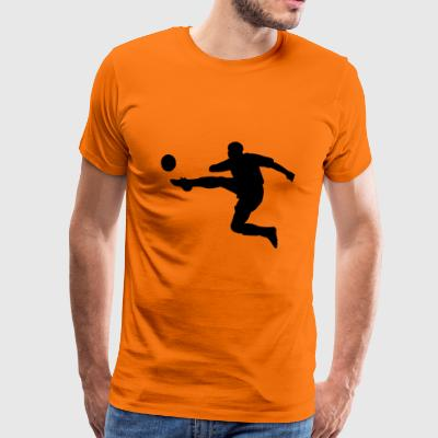 footballer - Men's Premium T-Shirt