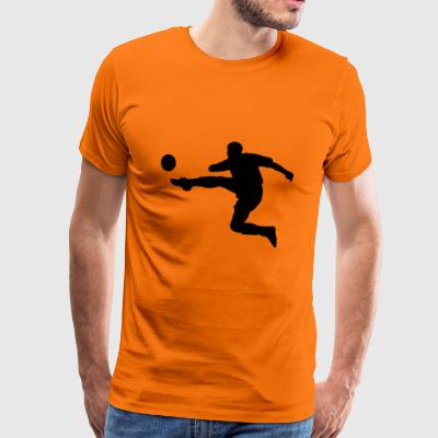 The football player - Men's Premium T-Shirt