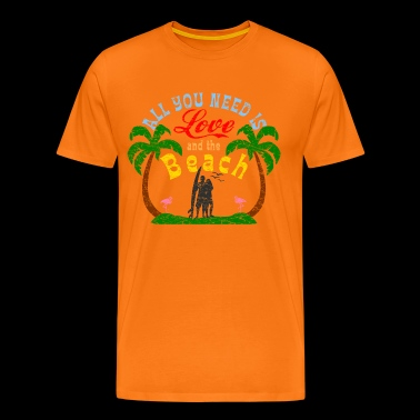 All you need is Love and Beach logo - Men's Premium T-Shirt