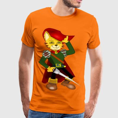 Sir the musketeer cat - Men's Premium T-Shirt