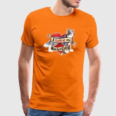 I Love My Border Collie - Merle Tricolor - T-shirt Premium Homme