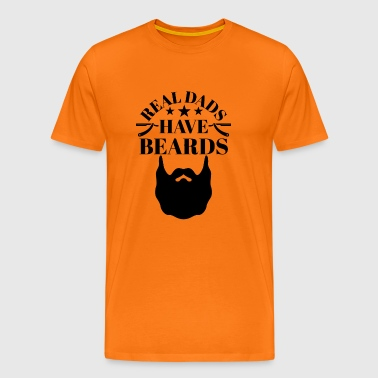 Real Dads have Beards - Männer Premium T-Shirt