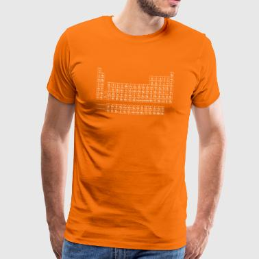 Periodic Table wit - Mannen Premium T-shirt