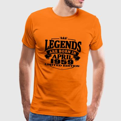 Legends er født i april 1959 - Herre premium T-shirt