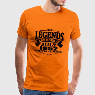 Legends are born in july 1952 - Men's Premium T-Shirt