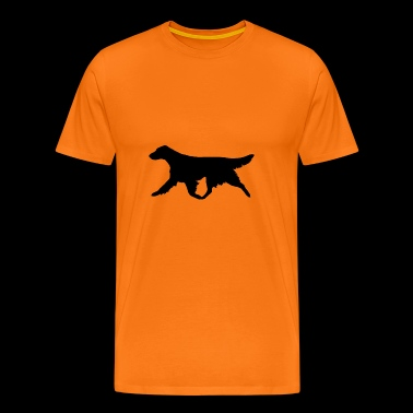 Flatcoated Retriever (Black) Trotting - Men's Premium T-Shirt