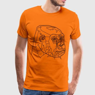 Gorilla Line Art - Men's Premium T-Shirt