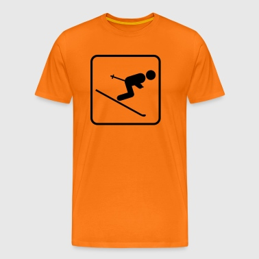 Skiing Downhill icon - Men's Premium T-Shirt