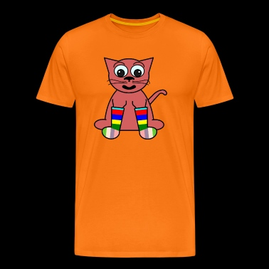The red cat - Men's Premium T-Shirt