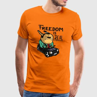 freedom is real - Männer Premium T-Shirt