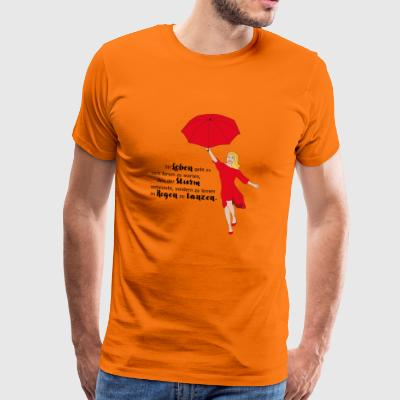 Dancing in the Rain - Männer Premium T-Shirt