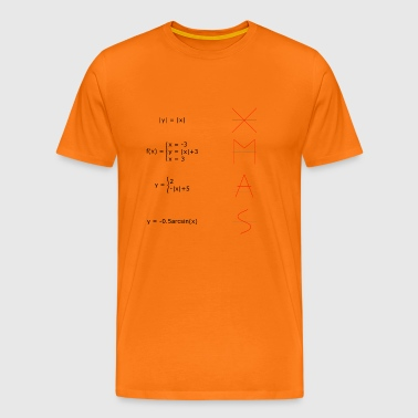 ALL YOU NEED IS LIEFDE MATH BIJ KERSTMIS - Mannen Premium T-shirt