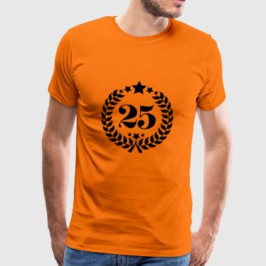 25th Birthday Wreath - Anniversary Wreath - Men's Premium T-Shirt