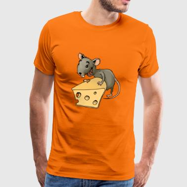 maus mouse cheese kaese animal tiere - Männer Premium T-Shirt