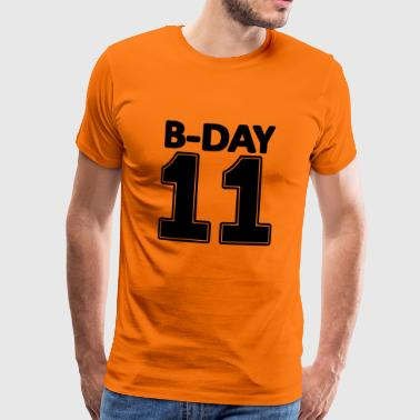 11th birthday number eleven 11 jersey college - Men's Premium T-Shirt