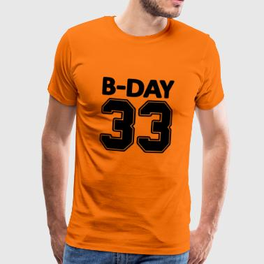 33rd birthday bday 33 number numbers jersey number - Men's Premium T-Shirt